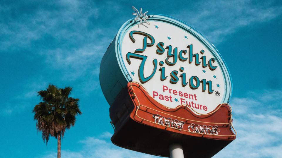 Psychic Vision neon sign photo by Wyron A