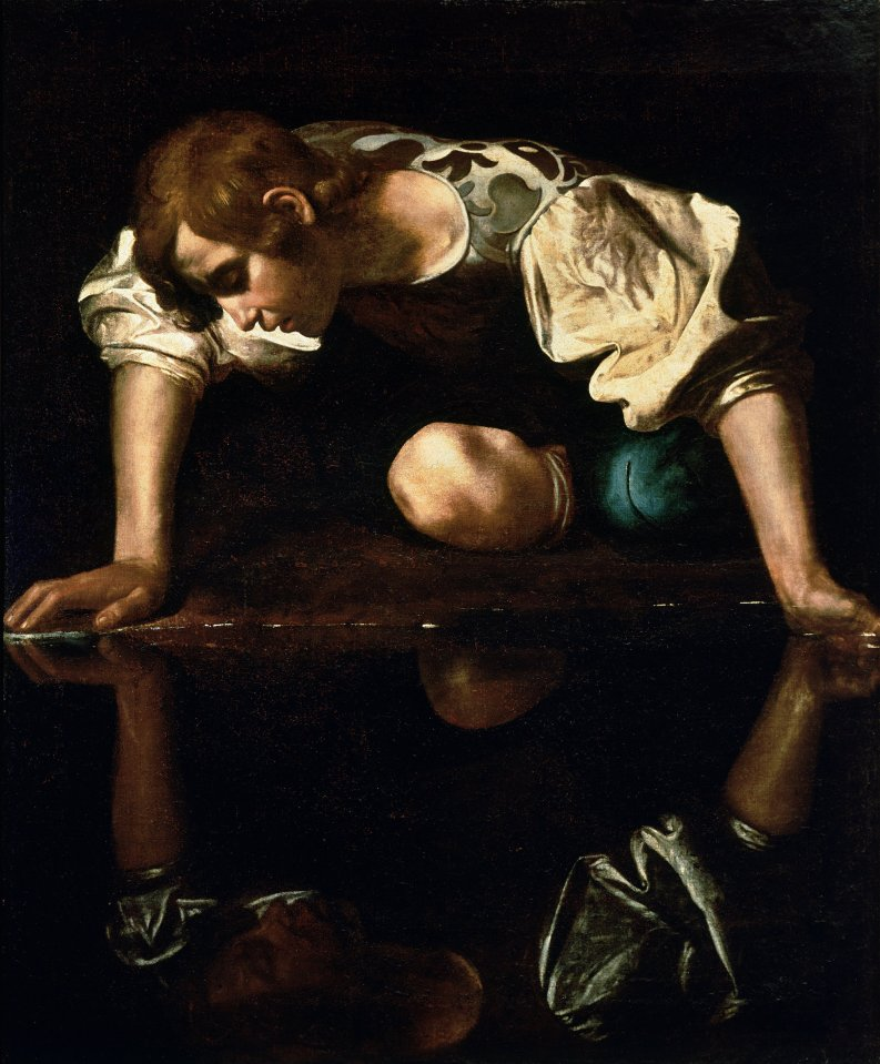 Narcissus by Caracaggio